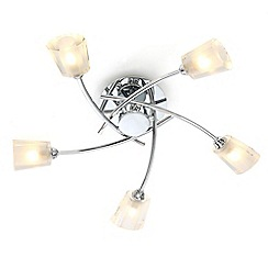 Home Collection - 'Kennedy' five facetted flush ceiling light