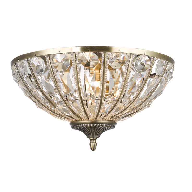 Home Collection alison Flush Ceiling Light, Gold