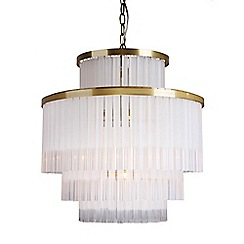 Home Collection - Jaxon Gold Metal and Frosted Glass Chandelier Light