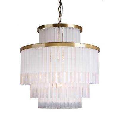 Bathroom Lights Debenhams home collection hannah crystal glass flush light | debenhams