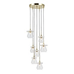 Home Collection - Taylor Gold Metal and Marble Cluster Light