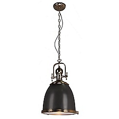 Home Collection - Autumn Gold and Black Metal Industrial Pendant Light