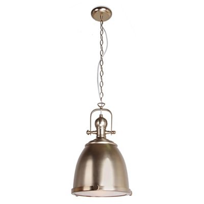 Debenhams Novelty Lighting : Home Collection Autumn Gold Metal Industrial Pendant Light Debenhams