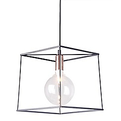 Home Collection - Harrison Black and Copper Metal Pendant Light