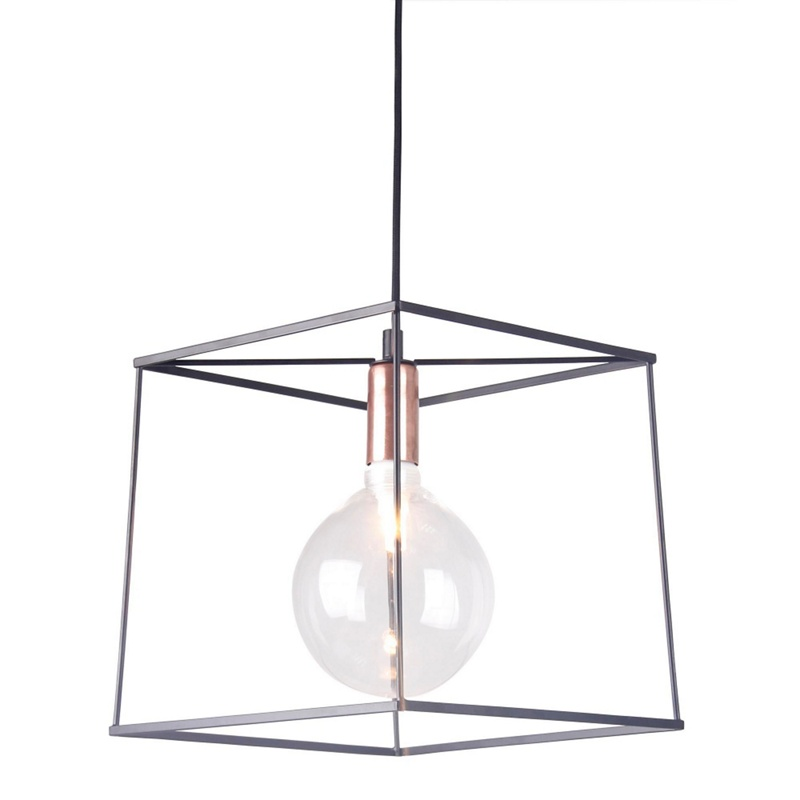 Home Collection Harrison Black And Copper Metal Pendant Light