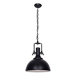Home Collection - Evan Black Metal Industrial Pendant Light