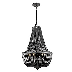 Home Collection - Aaliyah Black Glass Bead Chandelier Light