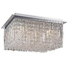 Home Collection - Metal and glass 'Elizabeth' flush ceiling light