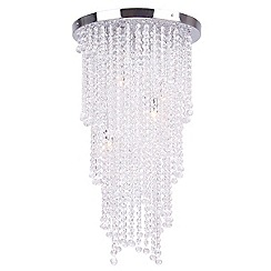 Home Collection - Large crystal glass 'Nessa' flush ceiling light