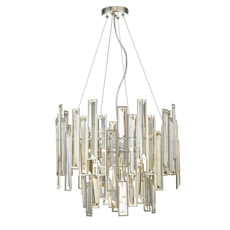 Home Collection Crystal Glass Neave Pendant Ceiling Light