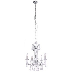 Home Collection - Chrome and crystal 'Catherine' chandelier