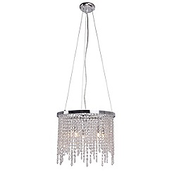 Home Collection - Metal and crystal 'Melanie' ceiling light