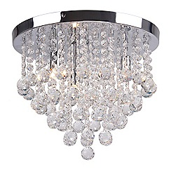 Home Collection - 'Aliyah' Crystal Glass Flush Ceiling Light