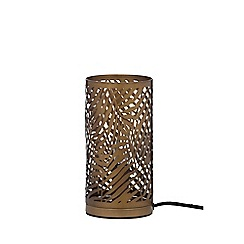 Home Collection - Bronze Metal Laser Cut 'Fayli' Table Lamp