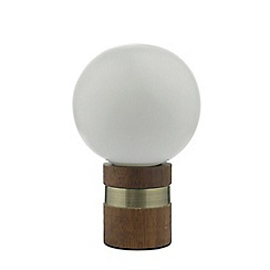 Home Collection - Frosted Glass and Wood 'Rowan' Table Light