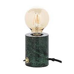 J by Jasper Conran - Green Marble Table Lamp with LED Bulb