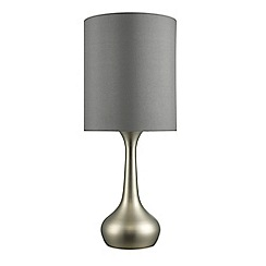 Home Collection - Brushed silver and grey 'Rachael' table lamp