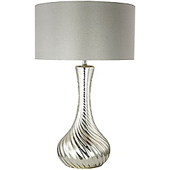 Home Collection - Alyssa Silver Glass Table Light