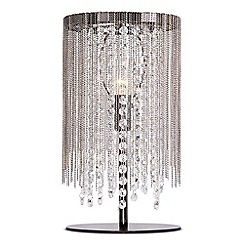 Home Collection - Riley Metal Chain and Crystal Glass Gunmetal Table Light
