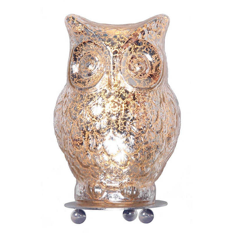 Home Collection – Evie Champagne Glass Owl Table Light