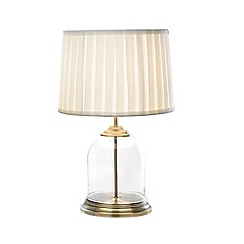 Home Collection - Lyla Glass Antique Brass Table Light
