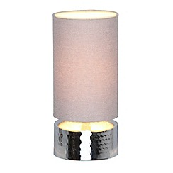 Home Collection - 'Lottie' Silver Hammered Metal Touch Lamp