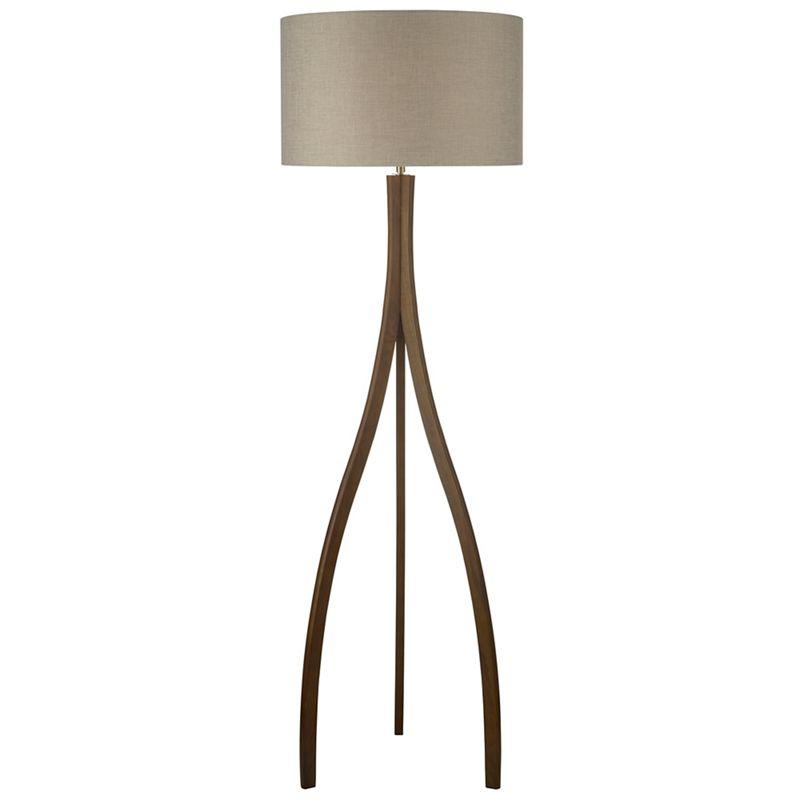 Home Collection Wooden Kade floor lamp