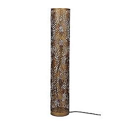 Home Collection - Bronze Metal Laser Cut 'Fayli' Floor Lamp