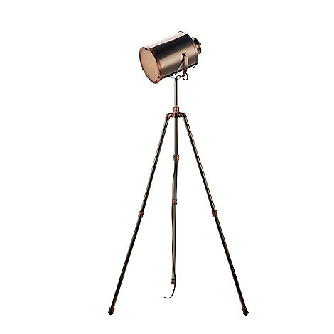 home collection jake nickel and copper camera floor lamp With copper camera floor lamp