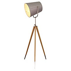 Home Collection - Wood 'Ethan' floor lamp