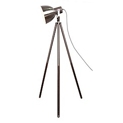 Home Collection - Metal and wood 'Alex' floor lamp