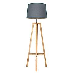 Home Collection - 'Noah' Wooden 4 Leg Floor Lamp
