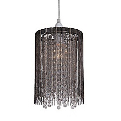 Home Collection - Riley Metal Chain and Crystal Glass Easyfit Ceiling Shade