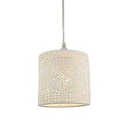 Home Collection - Lauren White Ceramic Easyfit Ceiling Shade