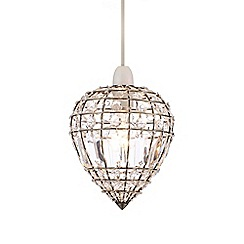 Home Collection - Kylie Crystal Glass Antique Brass Easyfit Ceiling Shade
