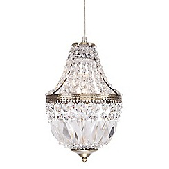 Home Collection - Nevaeh Crystal Glass Antique Brass Easyfit Ceiling Shade