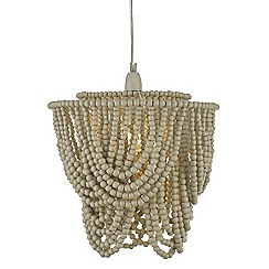 Home Collection - Wood 'Zeena' beaded ceiling light shade