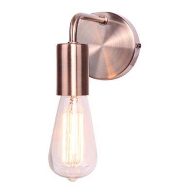 Home Collection Copper Metal Macy Wall Light Debenhams