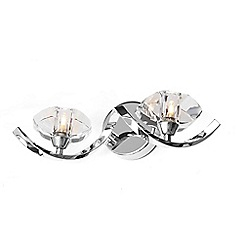 Home Collection - Bella Cut Glass and Silver Metal Wall Light