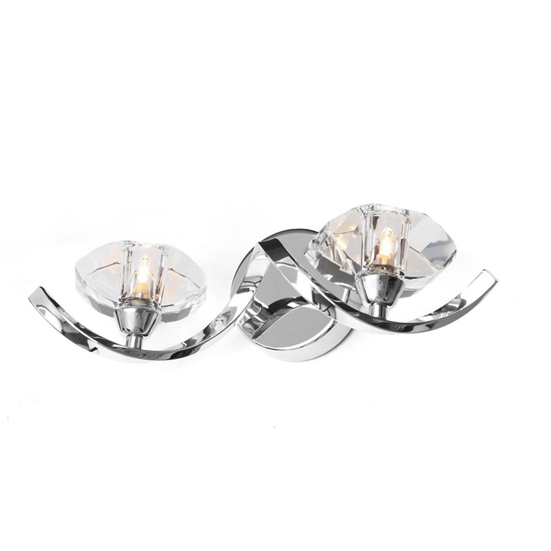 Home Collection – Bella Cut Glass And Silver Metal Wall Light