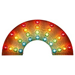 Home Collection - Rainbow Marquee Metal Wall Light