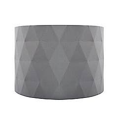 Home Collection - Grey diamond pleated lamp shade