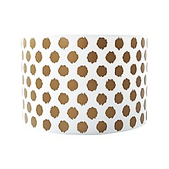 Home Collection - Gold spotted print lamp shade
