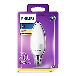Philips - 5.5W small Edison screw SES candle LED bulb