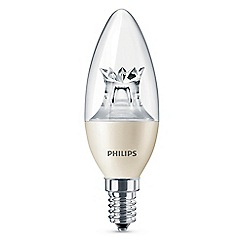 Philips - 6W small Edison screw SES candle LED bulb