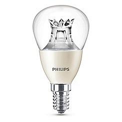 Philips - 6W small Edison screw SES mini globe LED bulb