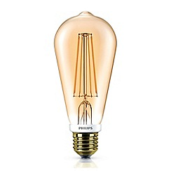 Philips - 7W Edison screw ES ST64 LED bulb