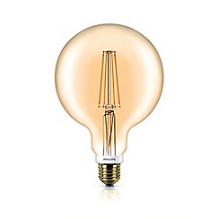 Philips - 7W Edison screw ES globe LED bulb