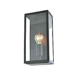 Zinc - Black metal and glass box wall light