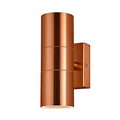 Zinc - Copper up and down wall light